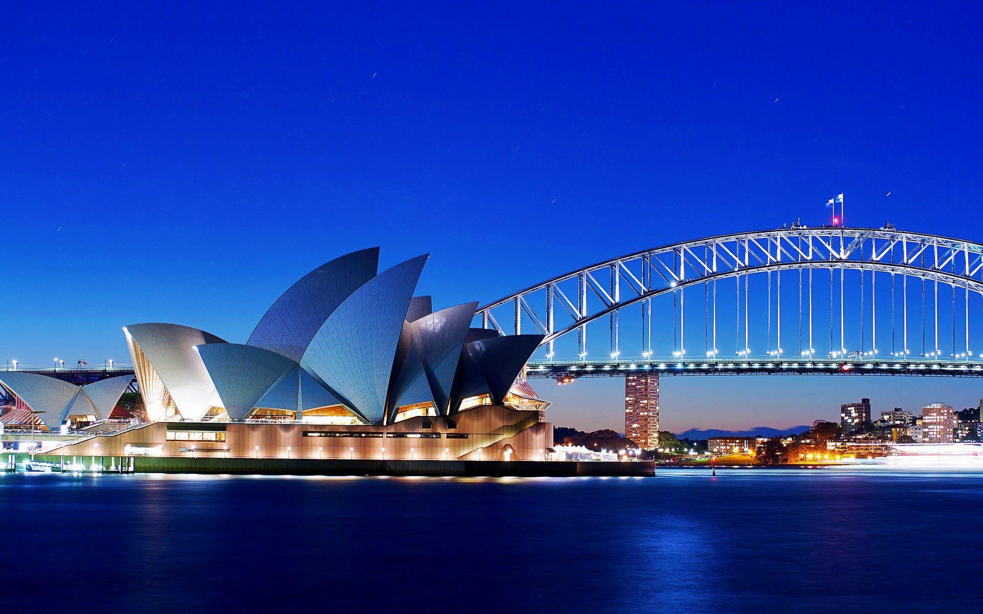 Sydney Opera House and Bridge Wallpaper   Travel HD Wallpapers 1920x1200