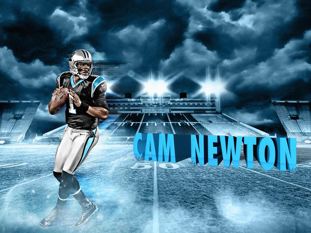 Cam Newton 2013 Wallpaper Cam newton by no look pass 1024x768