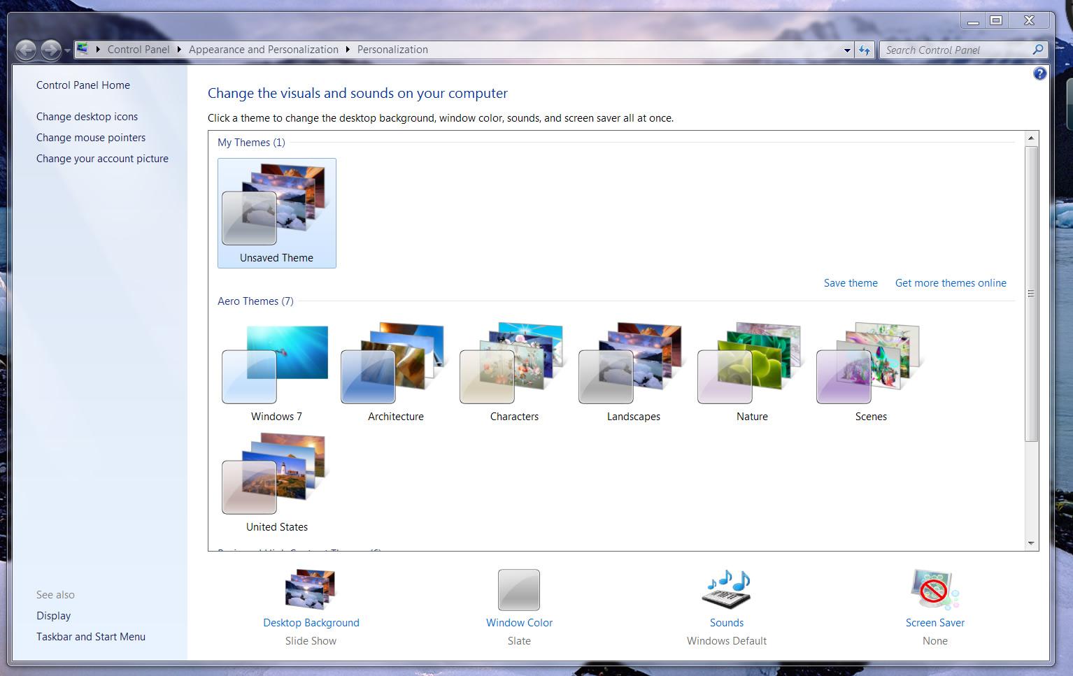 desktop wallpaper slideshow windows 7 home basic