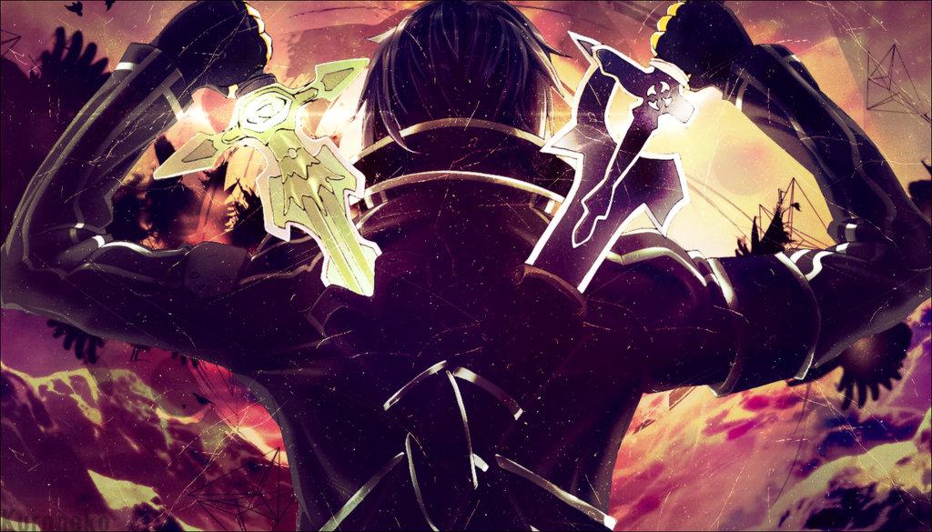 Wallpaper] Sword Art Online Kirito Desktop and mobile wallpaper 1024x585