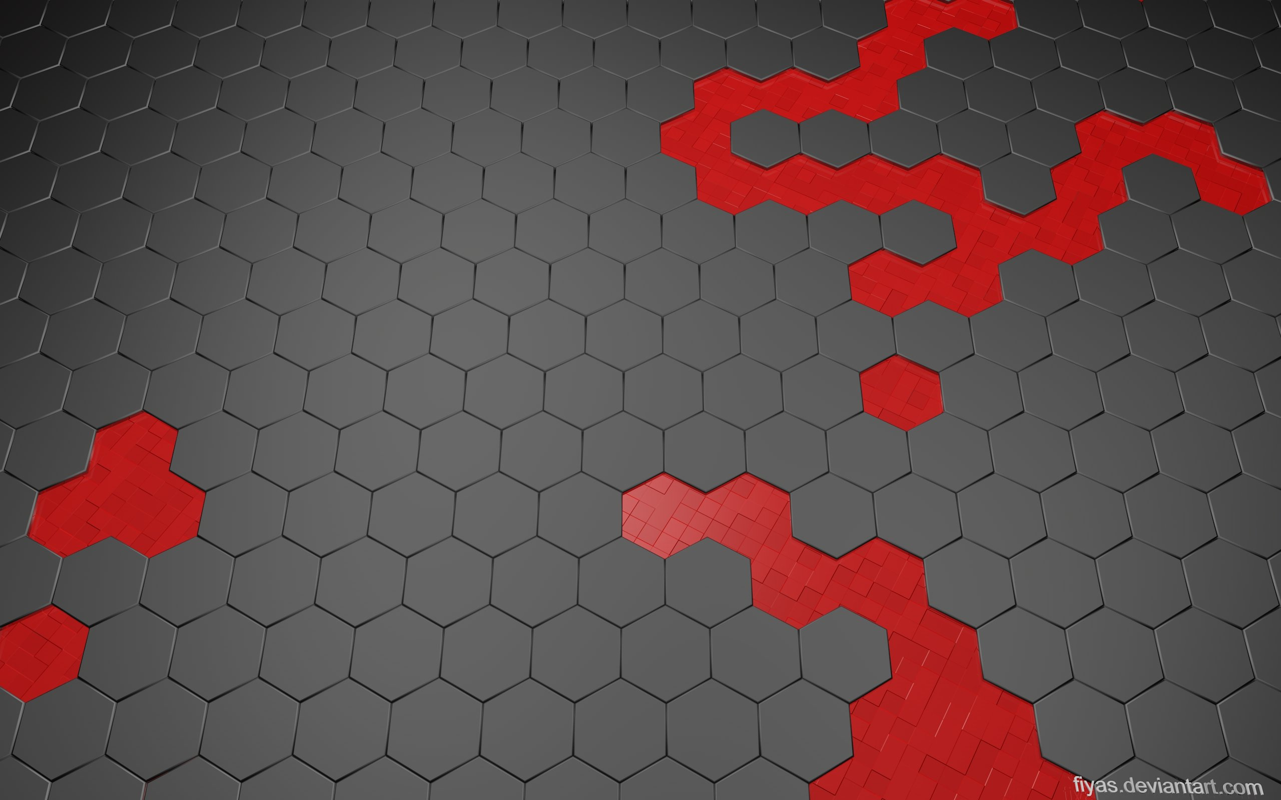 hexwall red wallpaper pack re up by fiyas customization wallpaper 3 2560x1600