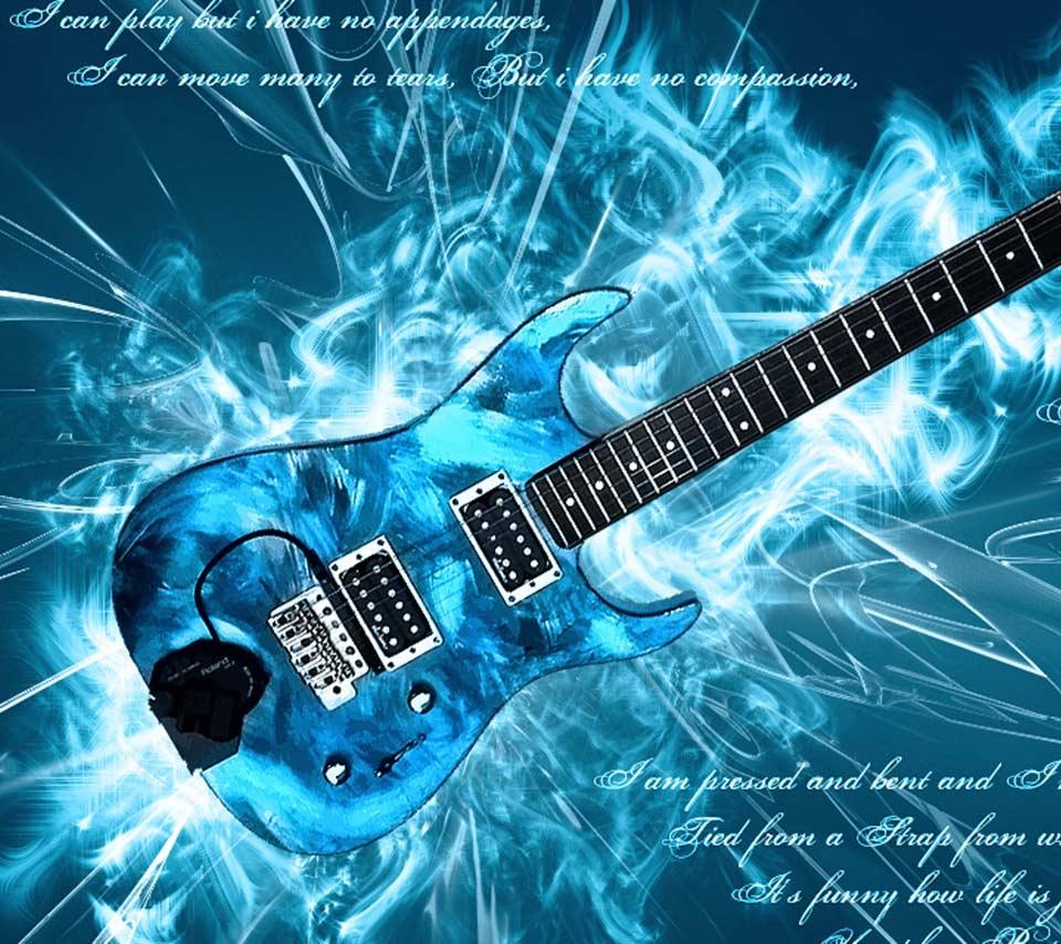 Blue Electric Guitar 960x854
