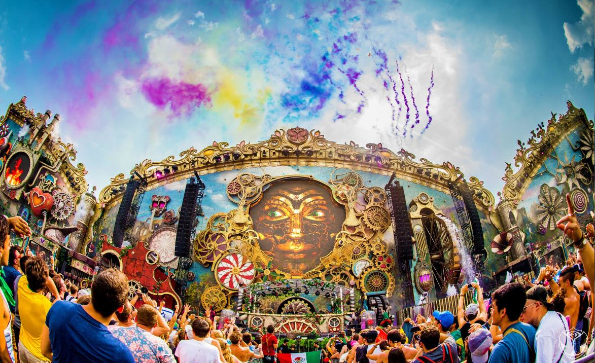 Free Download Tomorrowland 2015 Laser Show Hd Wallpapers