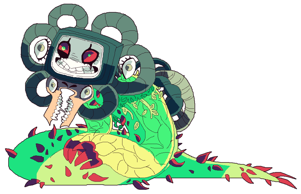 UnderTale Omega Flowey much by afroclown 1024x660