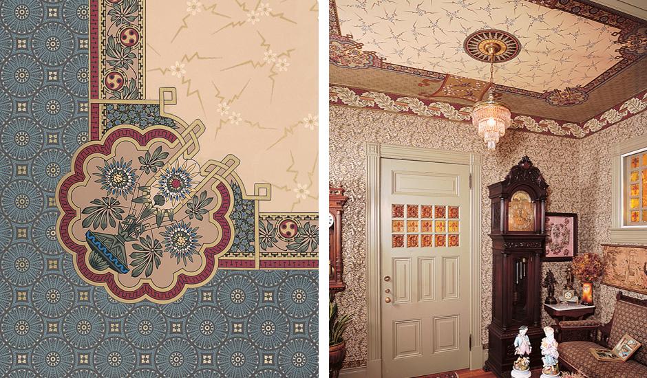Bradbury Victorian Home Art Wallpapers Aesthetic Movement Roomset 940x550