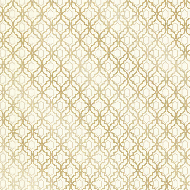 Alcazaba Gold Trellis Wallpaper Bolt   Contemporary   Wallpaper   by 640x640
