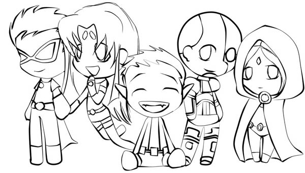 Top Teen Titans Coloring Pages Images Kids Pedia 600x340