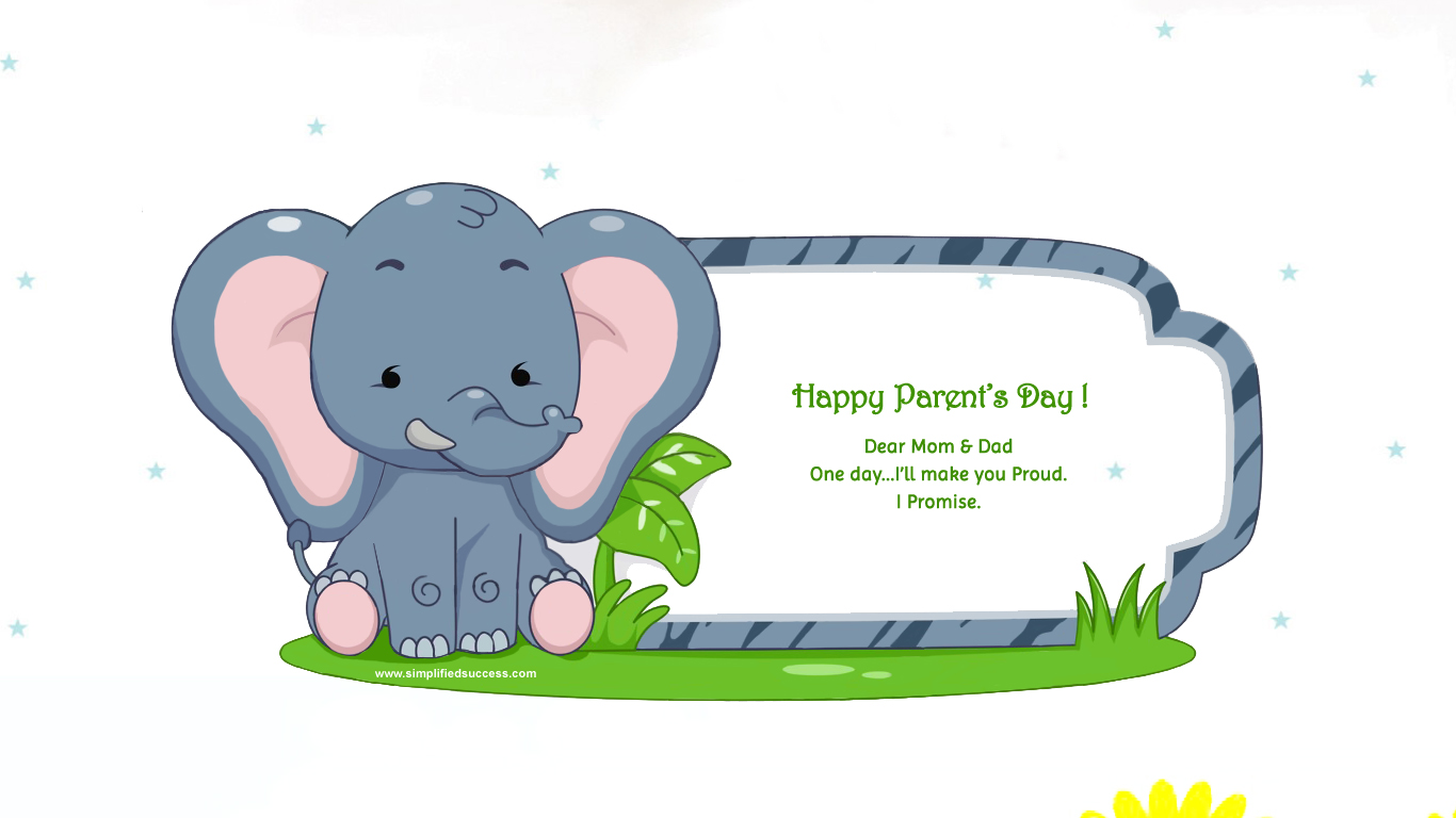 Happy Parents Day HD Wallpaper with Quote Download 1366x768