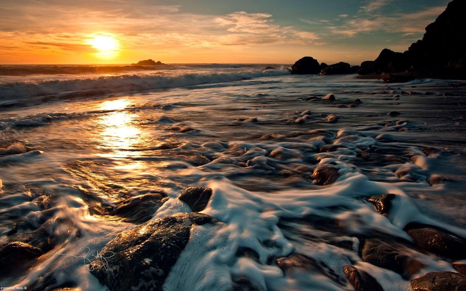 Download Wallpapers Backgrounds   Sunset surf windows 8 desktop 1600x1000