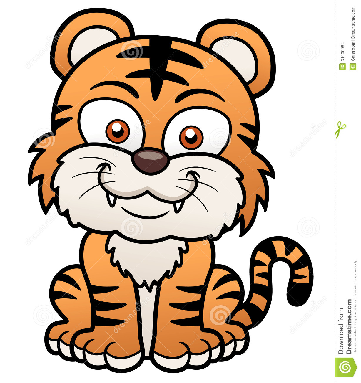 Tiger Cartoon Images 1228x1300