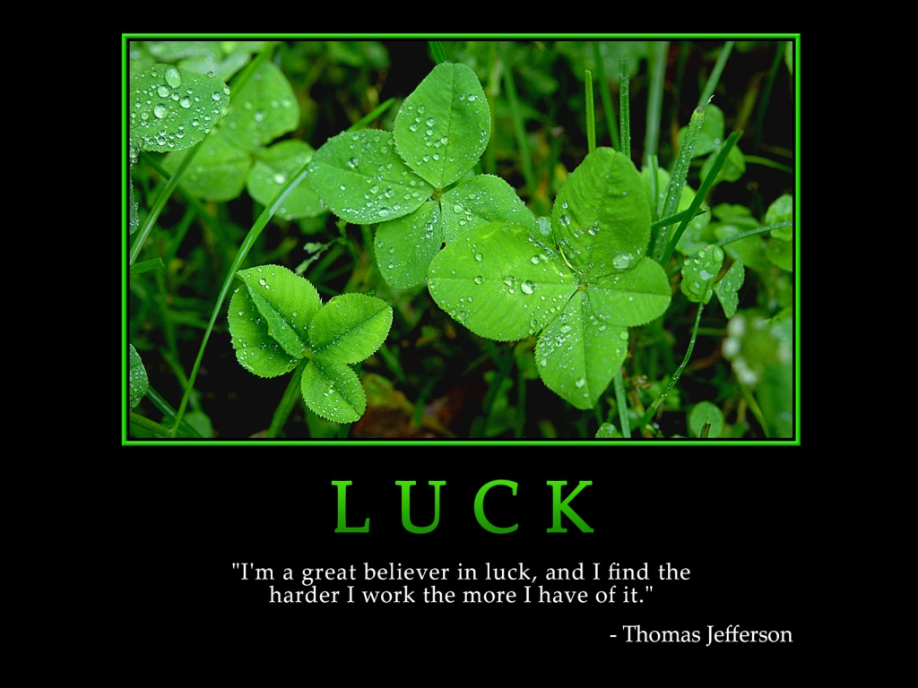 Luck is simply the manifestation of preparations made for the future 1024x768