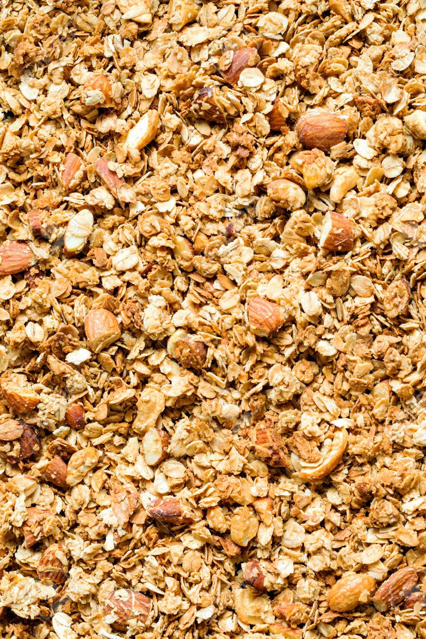 Textured Background Of Granola Stock Photo Picture And Royalty 866x1300