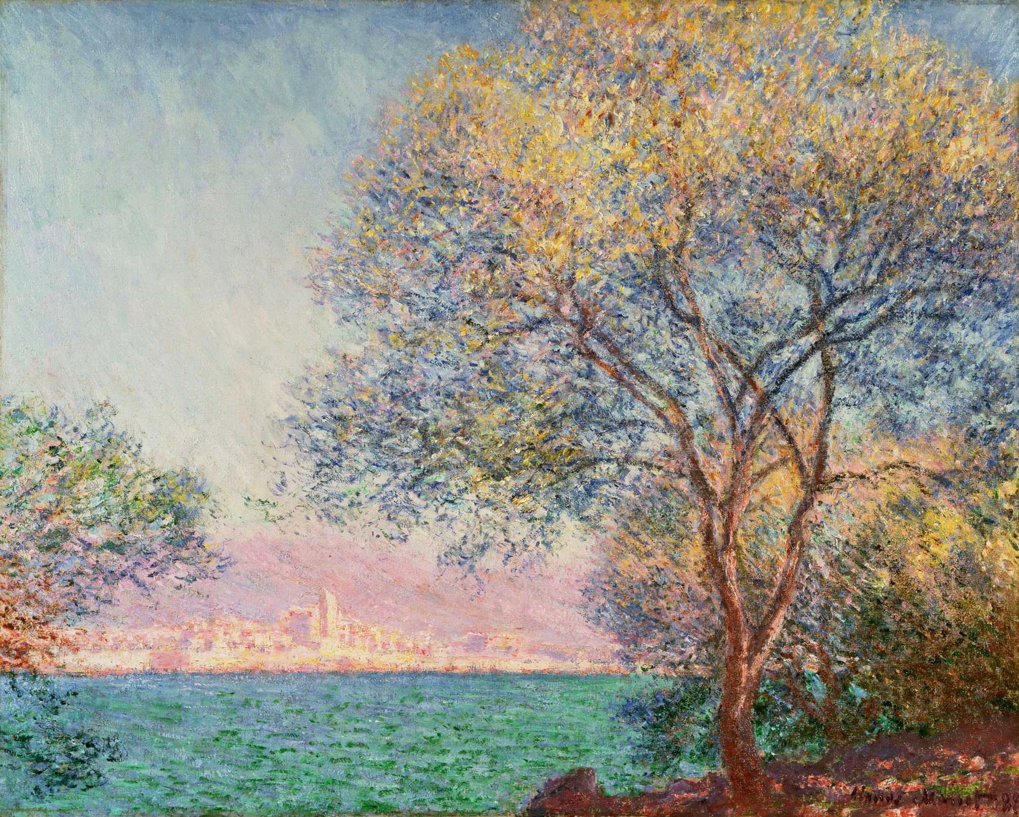 Drawn wallpapers   Paintings Painting Monet   Antibes in the morning 2000x1604