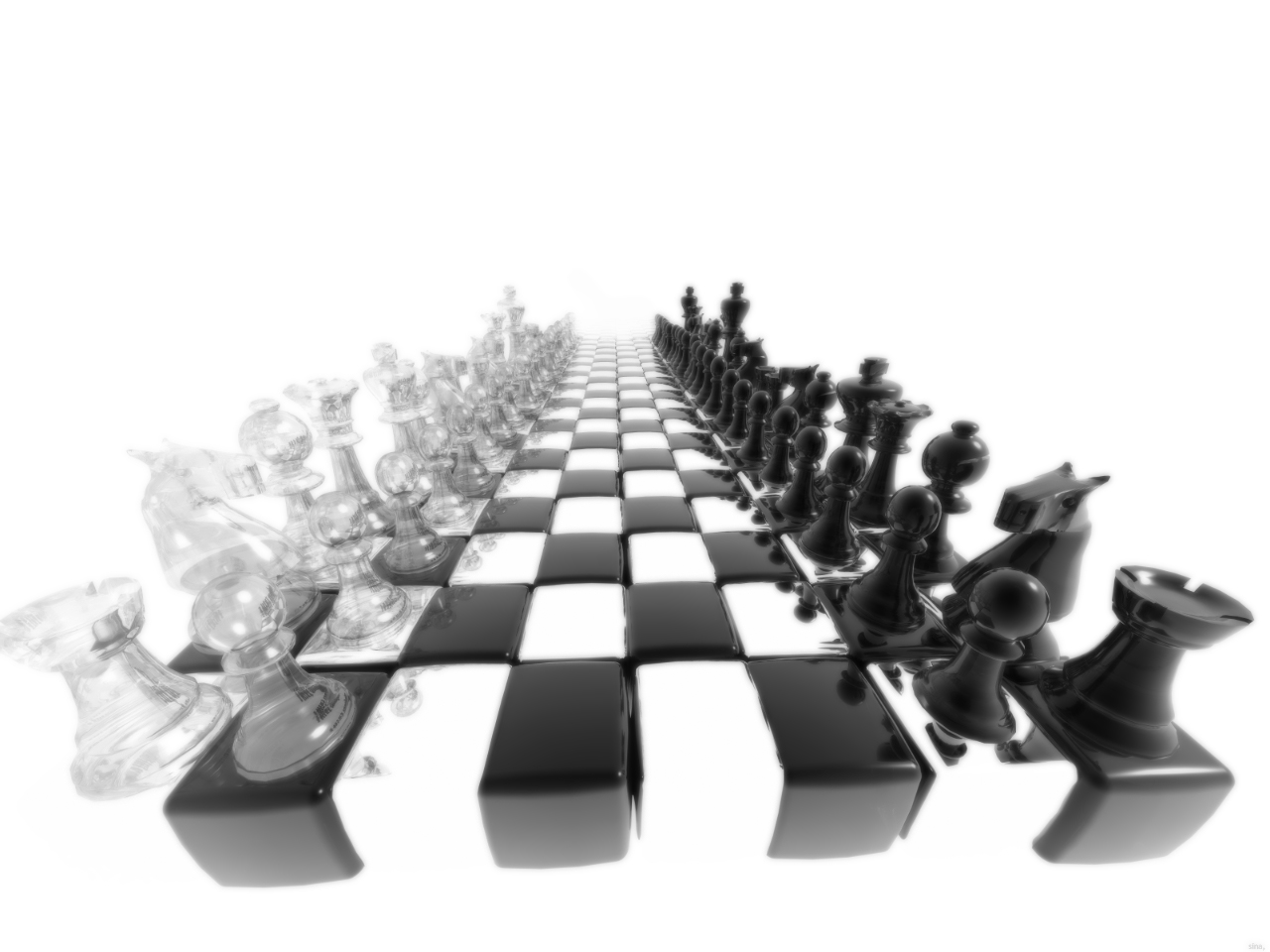wallpaper best size 3D Black and White Chess wallpaper 1280x960