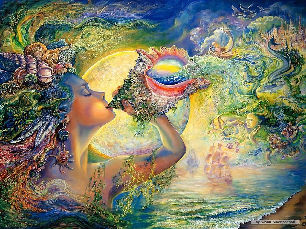 Art wallpaper   Josephine Wall Fantasy Art Illustration wallpaper 1024x768