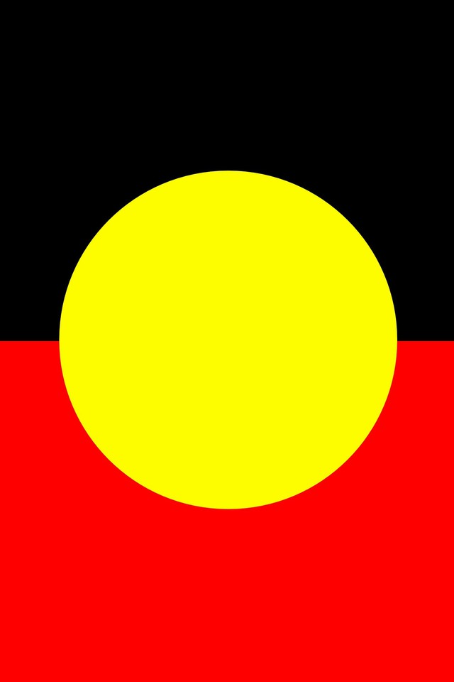Australian aboriginal flag wallpaper 640x960
