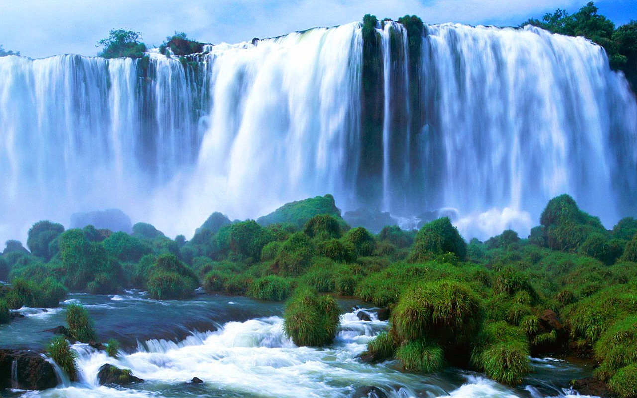 Natural Scenery Wallpaper Victoria Falls Wallpaper World 1280x800
