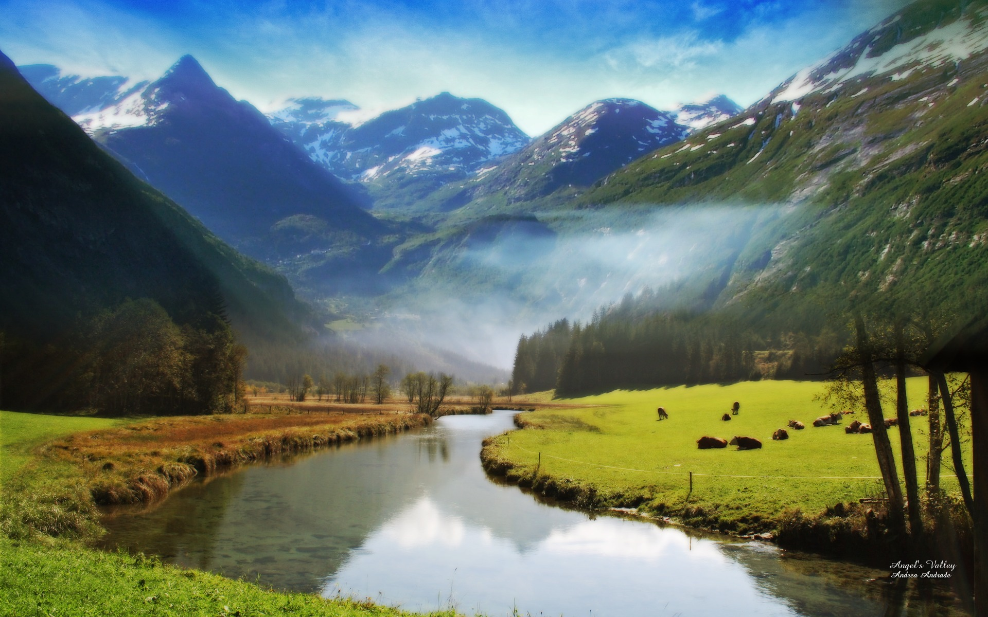 wallpaper nature widescreen manipulated photo valley wallpapers 1920x1200