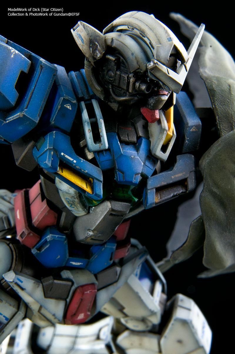 Gundam Exia Repair Assembled Painted Weathered No6 Wallpaper 800x1204
