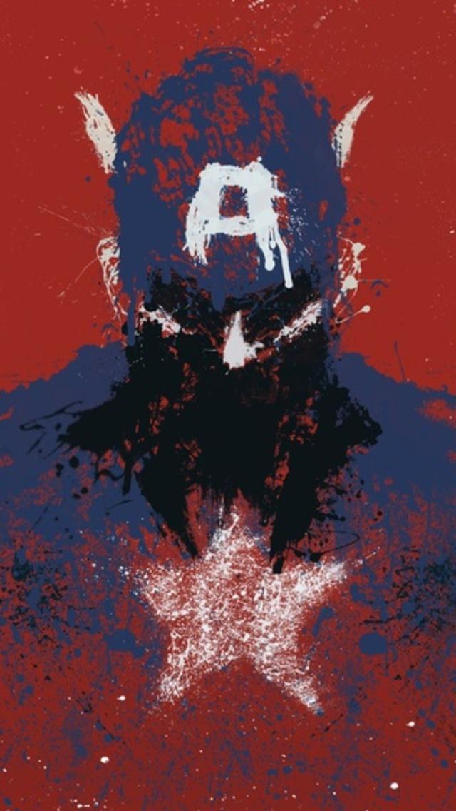 Captain America Art iPhone 5 Wallpaper 640x1136 640x1136