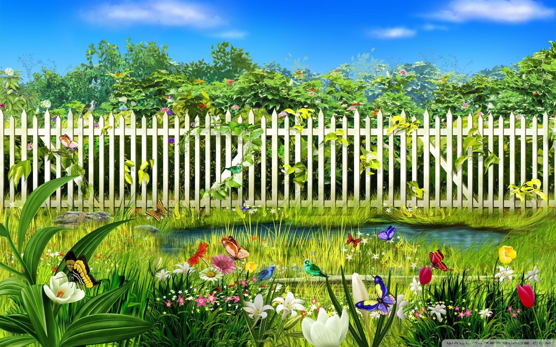 Spring Garden 4K HD Desktop Wallpaper for 4K Ultra HD TV 1920x1200