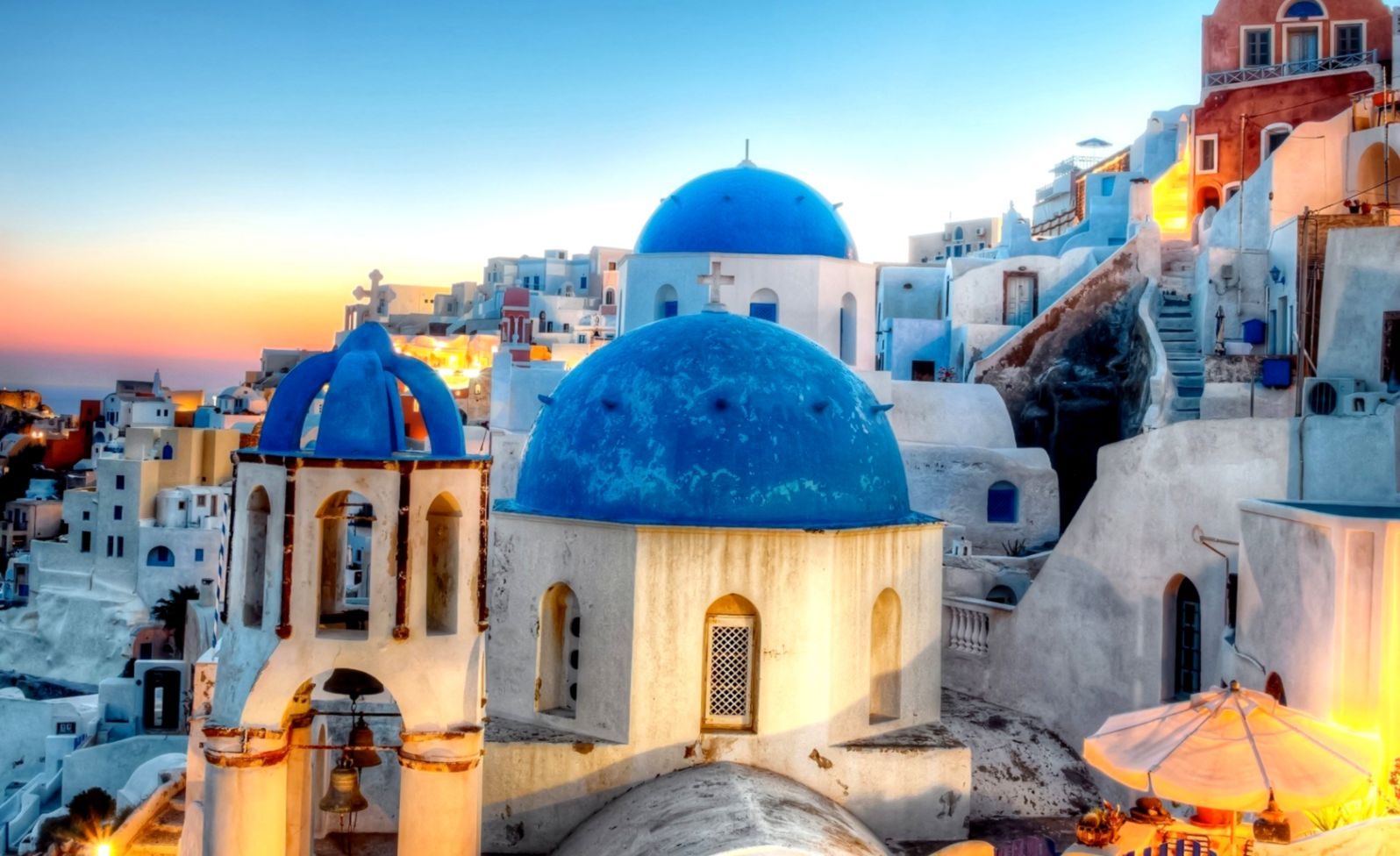 Greece Oia Santorini City Hd Wallpaper Wallpapers Lock Screen 1596x976
