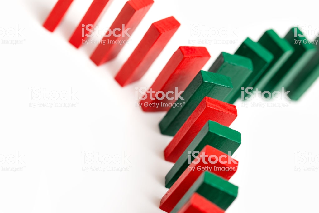 Colorful Dominos On White Background Coming Together Stock Photo 1024x682