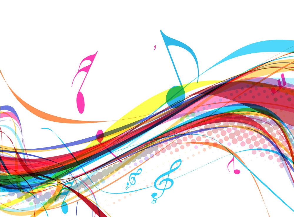 Fiery Treble Clef In Rainbow Flames: Colorful Treble Clef Wallpaper