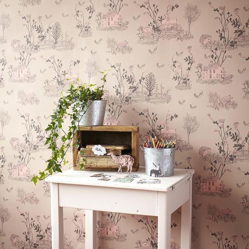 wallpapers Pink Wallpaper For Rooms Custom Room Girl Tree 800x800