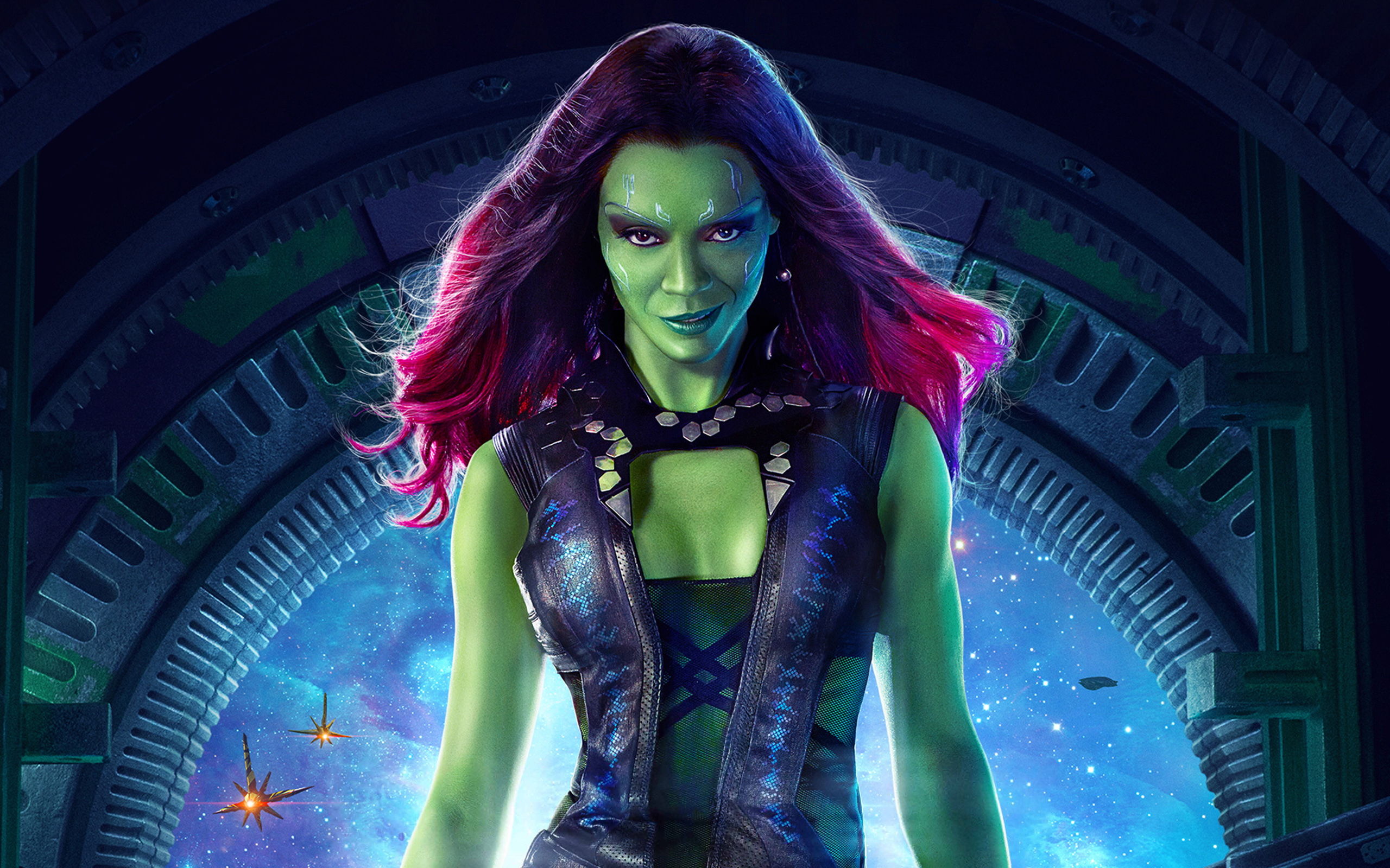 Zoe Saldana As Gamora   Wallpaper High Definition High Quality 2560x1600