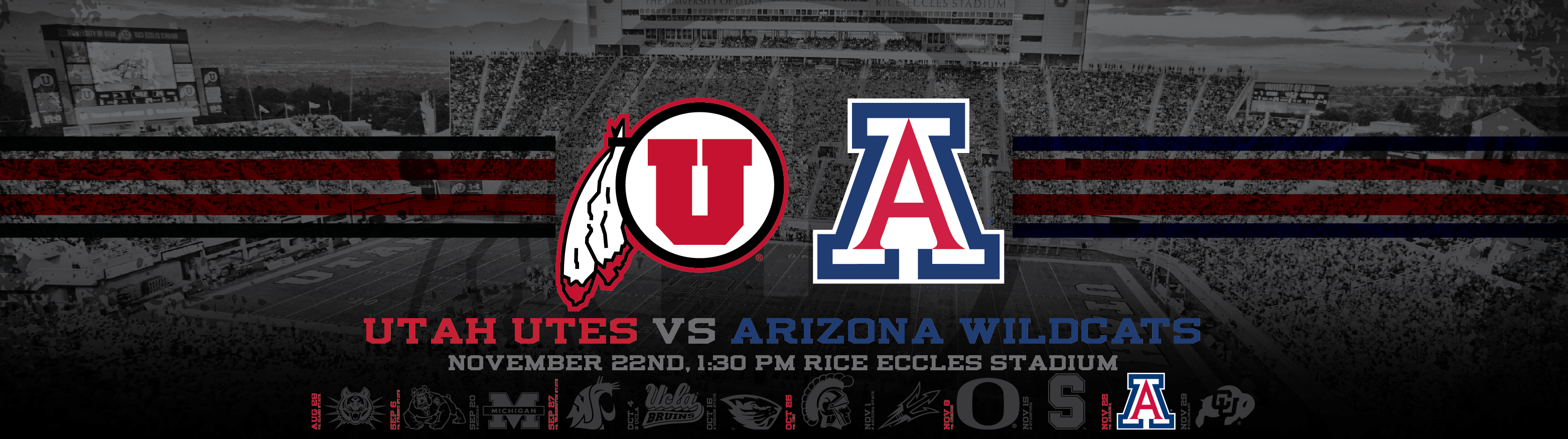 Utah Utes vs Arizona Wildcats Wallpapers Dahlelama 3125x875