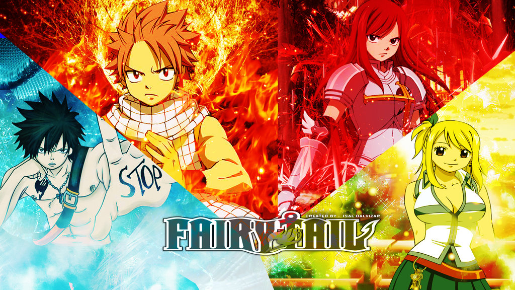 Fairy Tail Wallpaper Team Natsu By IsaL by isaldalvizar 1024x576