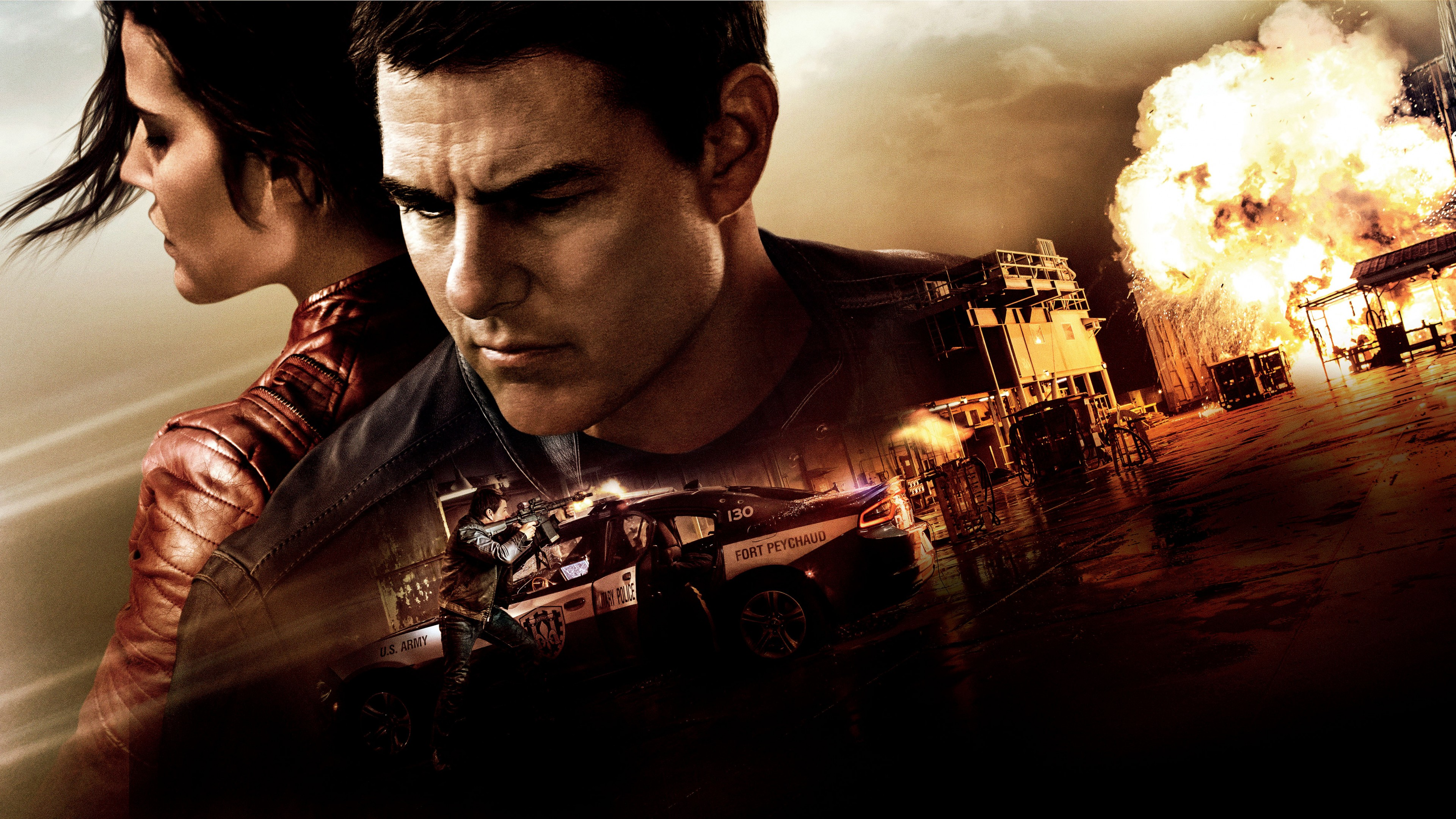 Jack Reacher Never Go Back 4k Ultra HD Wallpaper Background 3840x2160
