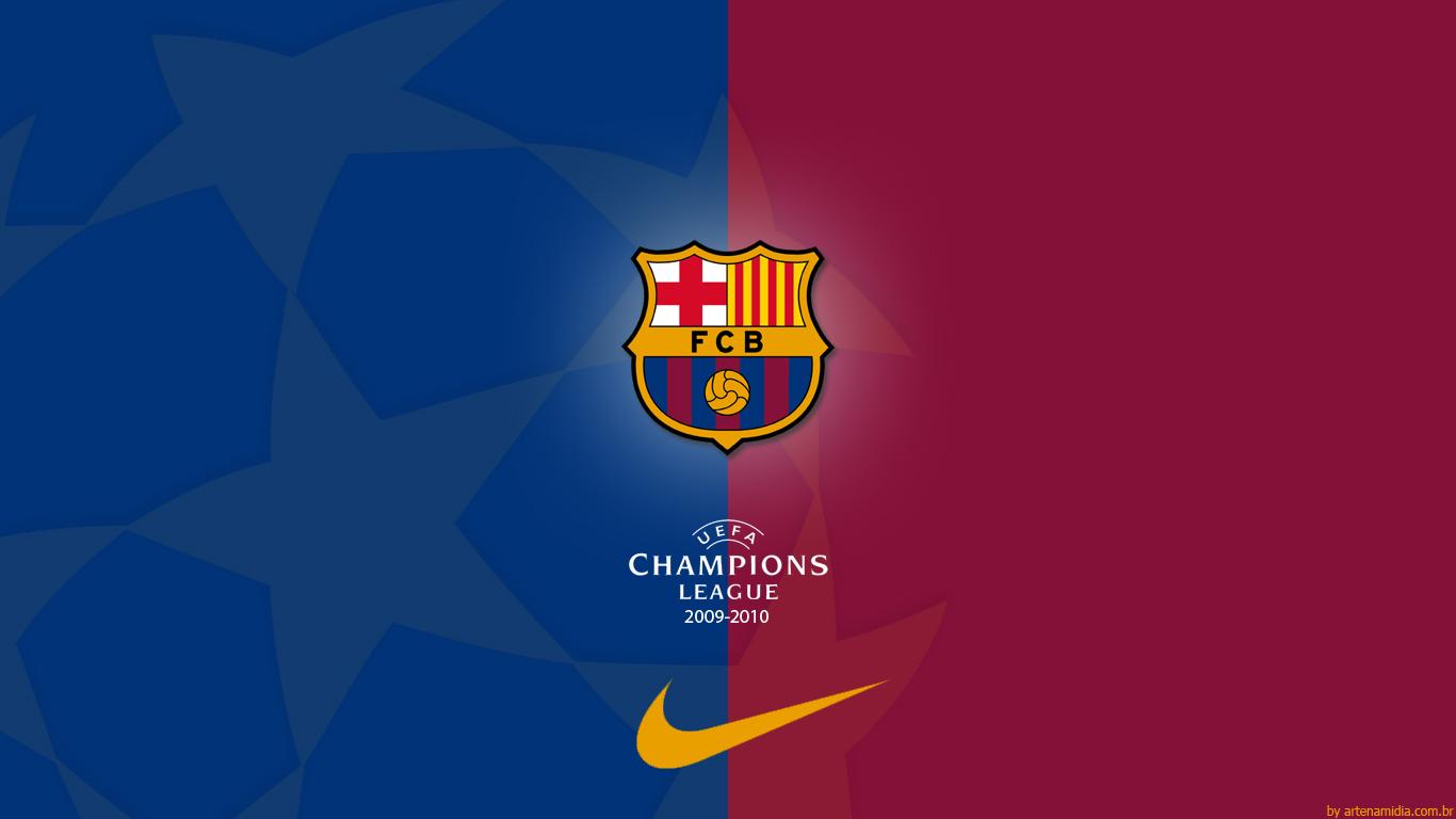 FC Barcelona FC Barcelona   Champions League Wallpaper 1366x768