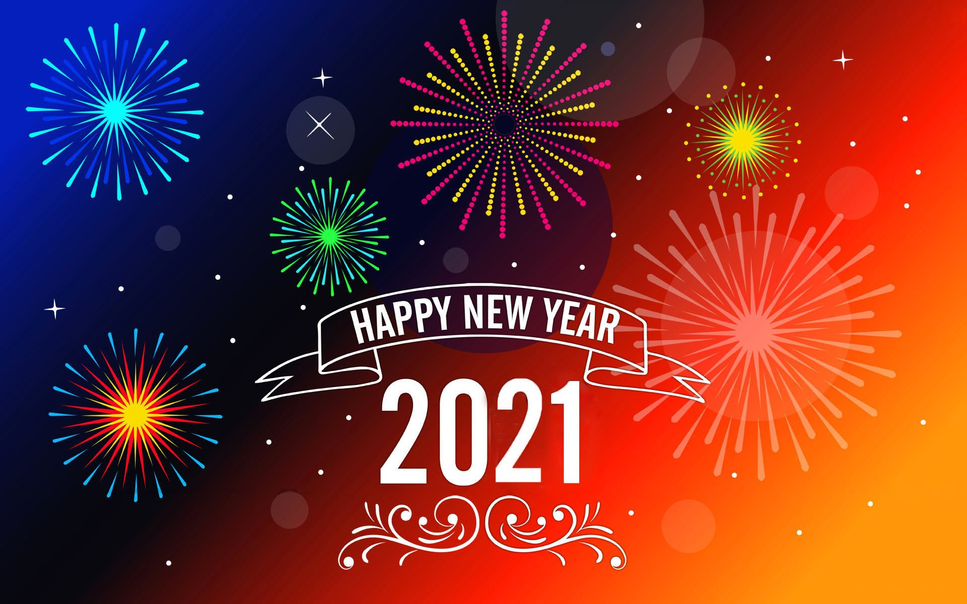 Happy New Year 2021 Messages Greeting Card Wallpaper Hd For Mobile 1920x1200