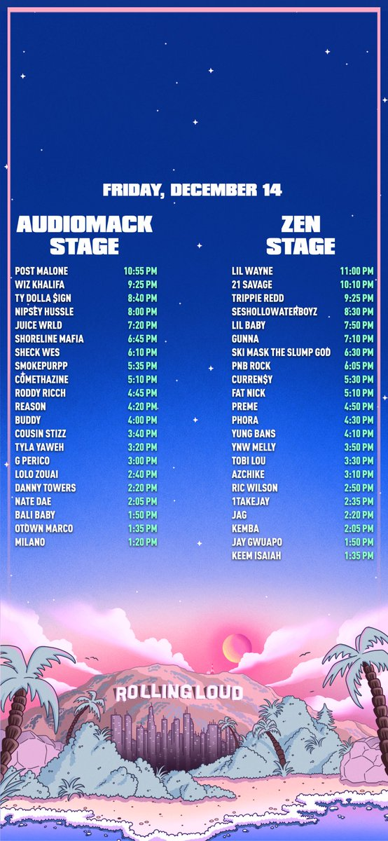 Rolling Loud on Twitter PHONE WALLPAPERS WITH SET TIMES https 554x1199