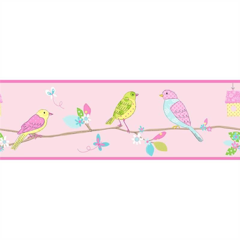 Pretty Birds Tree Branch Butterfly   Hoopla Wallpaper BORDER 800x800