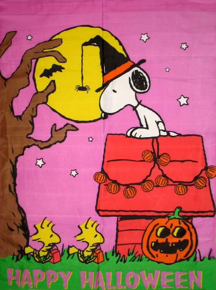 Happy Halloween Flag Snoopy Peanuts Gang Pinterest 736x989