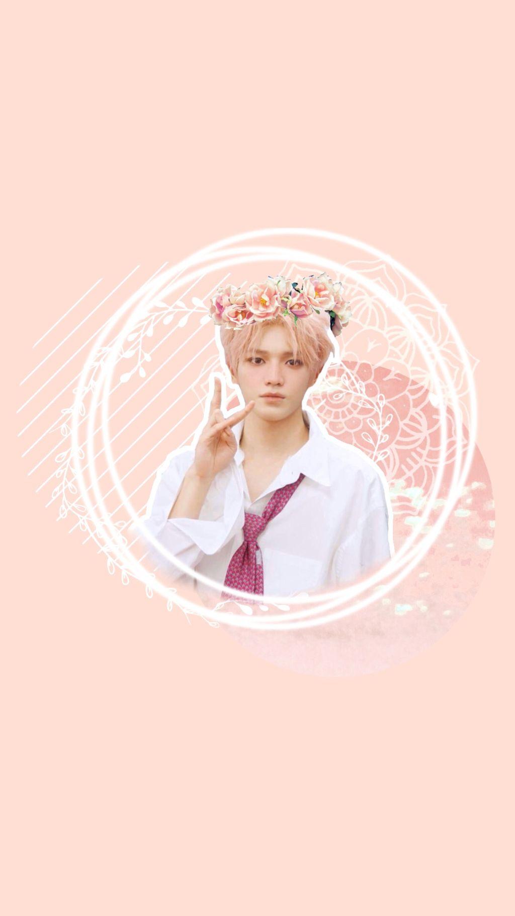 nct taeyong wallpaper nct taeyong ncttaeyong kpop peach 1024x1820