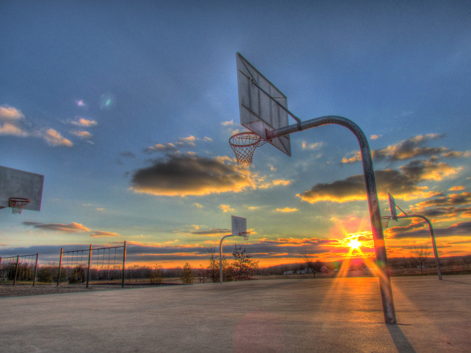 Download Basketball Court Wallpaper 1600x1200