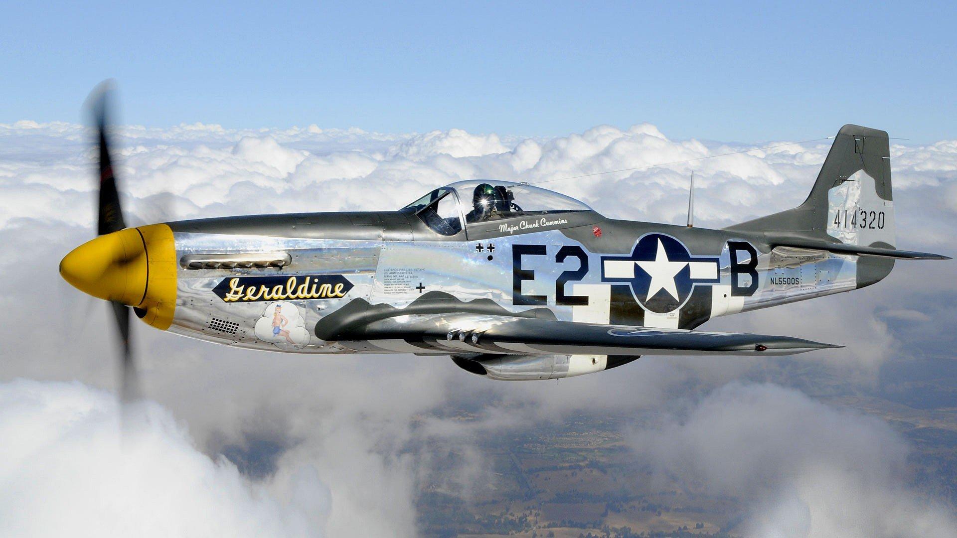 aircraft Warbird P 51 Mustang wallpaper background 1920x1080