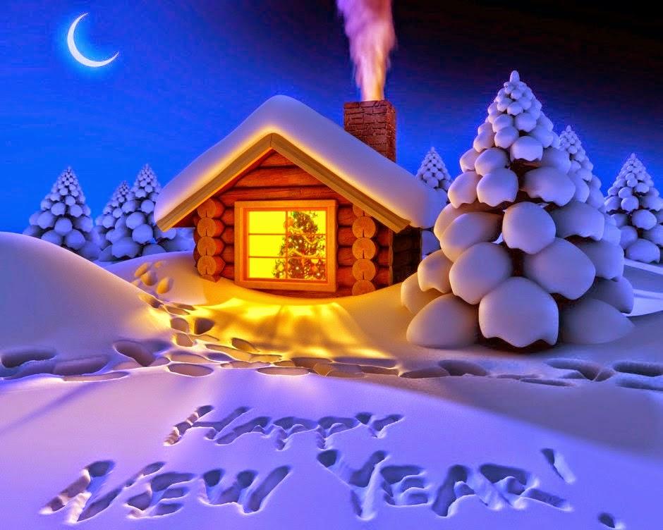 Happy New Year 2015 Wallpaper 3D   Flowers Wedding Valentines 940x752