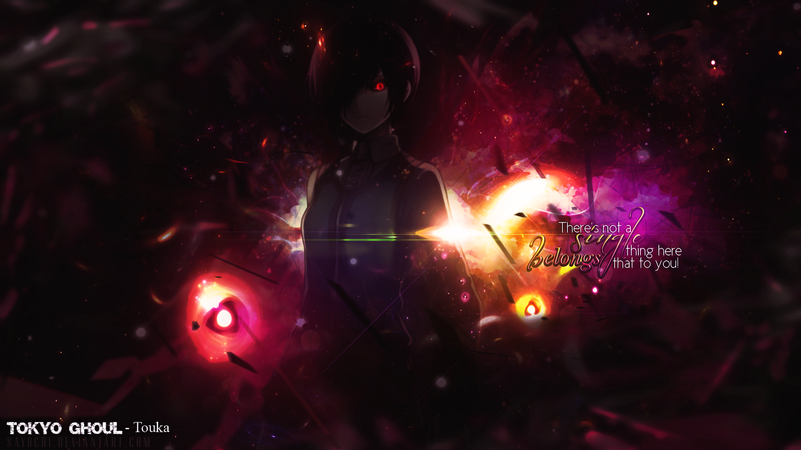 Tokyo Ghoul 1920 X 1080 Hd By Say0Chi On Deviantart Important 1600x900