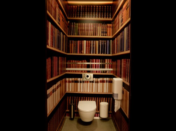 Bookshelf Wallpaper Gives An Instant Library Feel 590x442