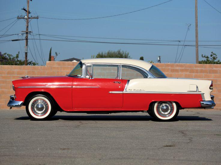 1955 Chevrolet Bel Air Sport Coupe 2454 1037D retro g wallpaper 736x552