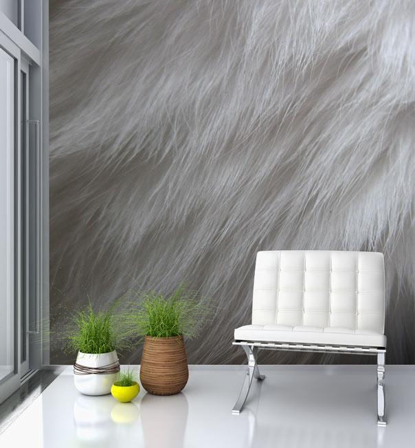 Furry Wallpaper For Bedrooms Fur wallpaper mural 604x652