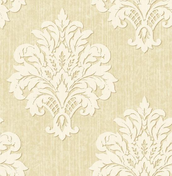 Crown Wallpaper Fabrics Toronto Beige Damask Wallpaper Pintere 547x560