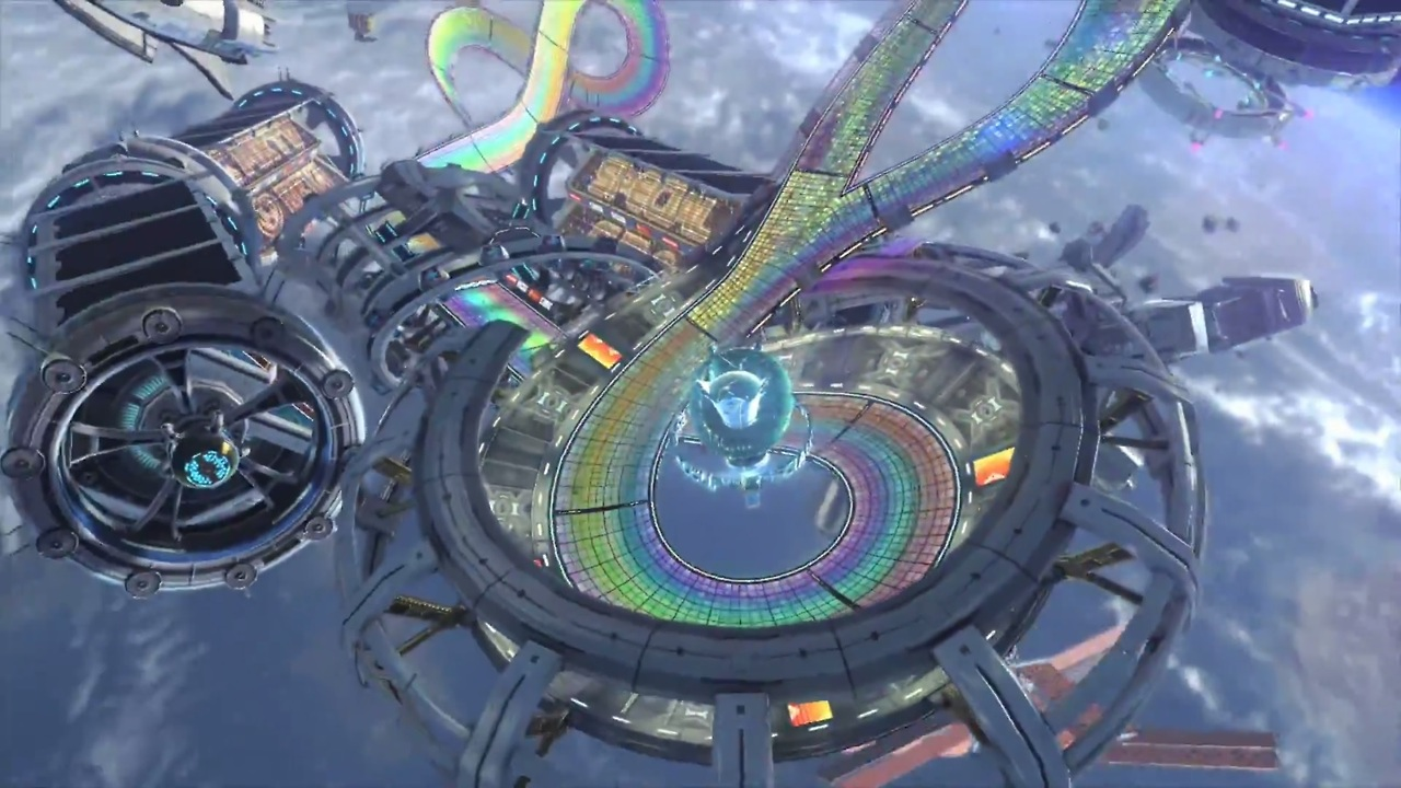 Free Download Mario Kart 8 Rainbow Road By Rosalina Luma 1280x720