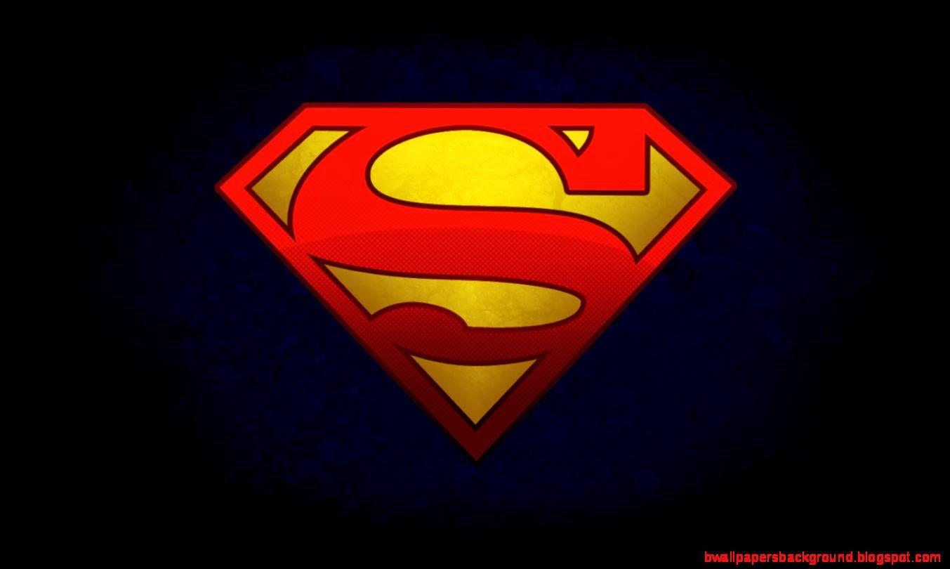 Superman Logo Desktop Wallpaper Wallpapers Background 1353x810