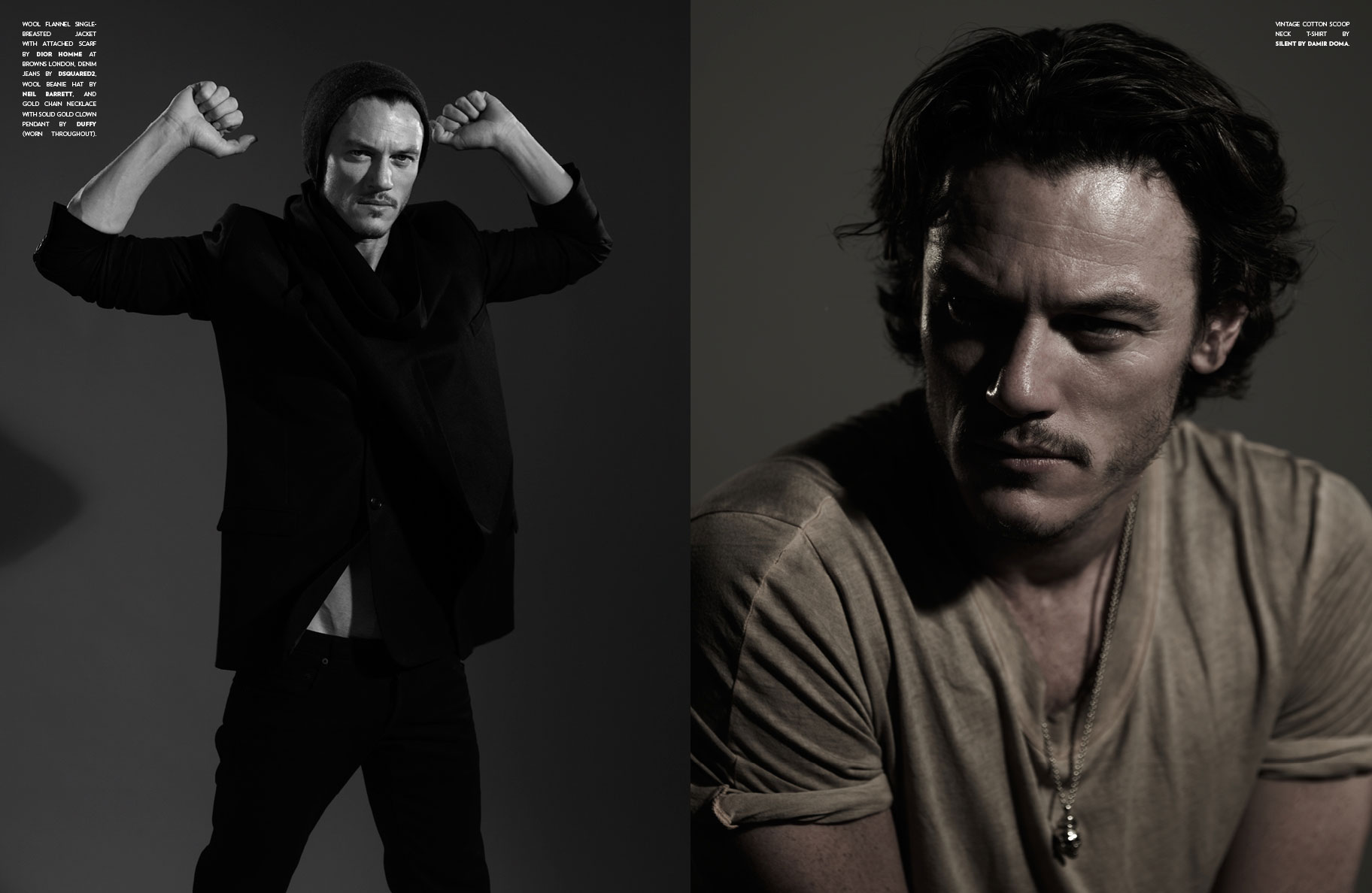 actor Luke Evans hd desktop wallpaper screensaver background 1824x1188